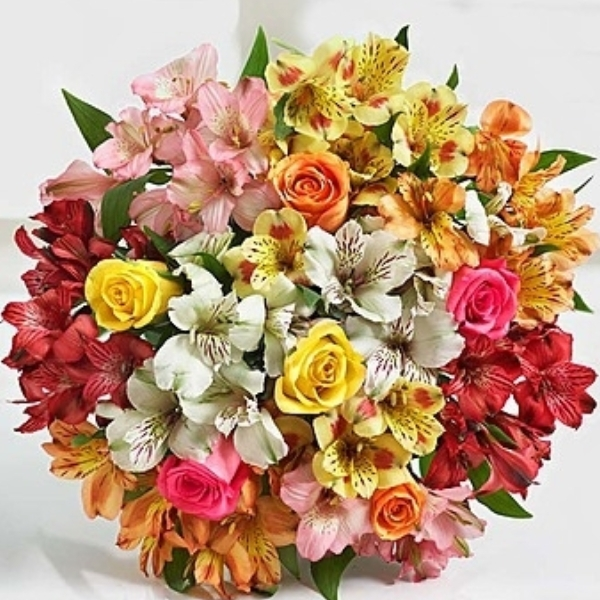 Assorted Lilies and Roses