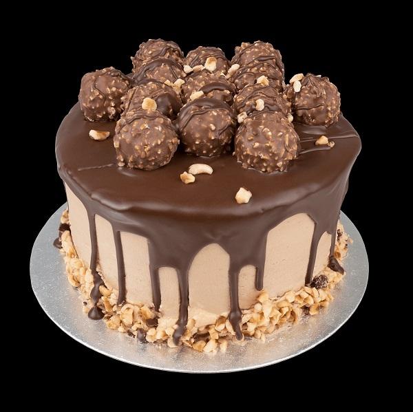Chocolate Hazelnut Truffle Cake