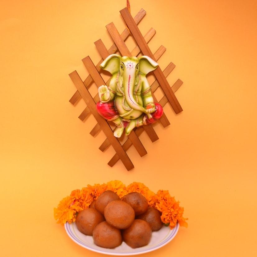 Ganesha Hanging & Gulab jamun