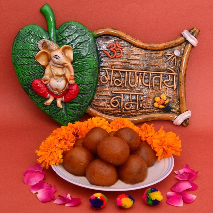 Ganesha Namha Hanging & Gulab jamun