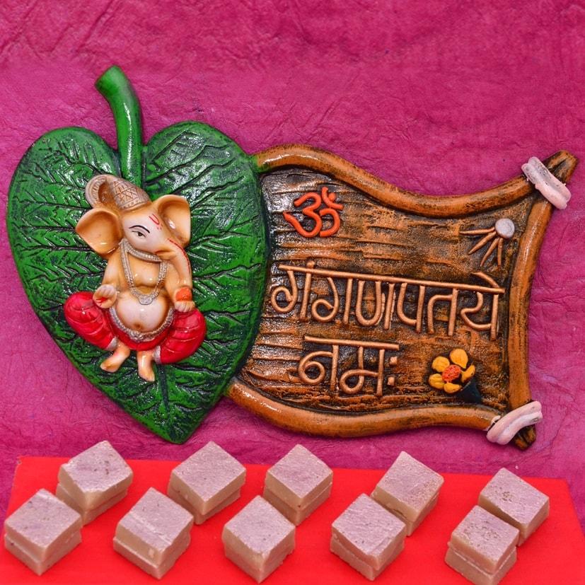 Ganesha Namha & Kaju katli