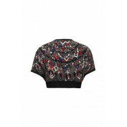 Embroidered Cape Blouse