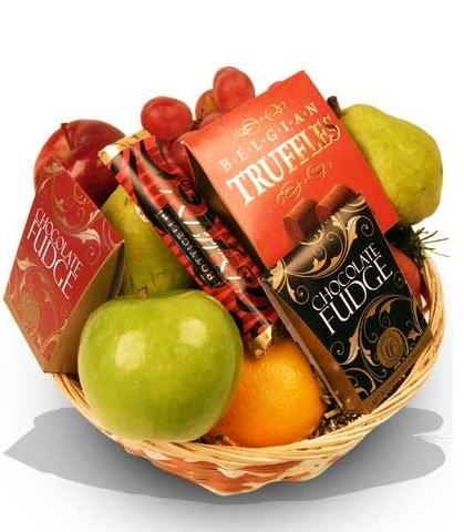 Fruit & Chocolate Gift Basket