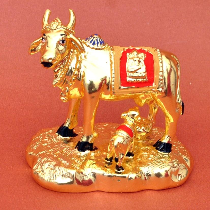 Golden Plated Spiritual Kamdhenu Cow