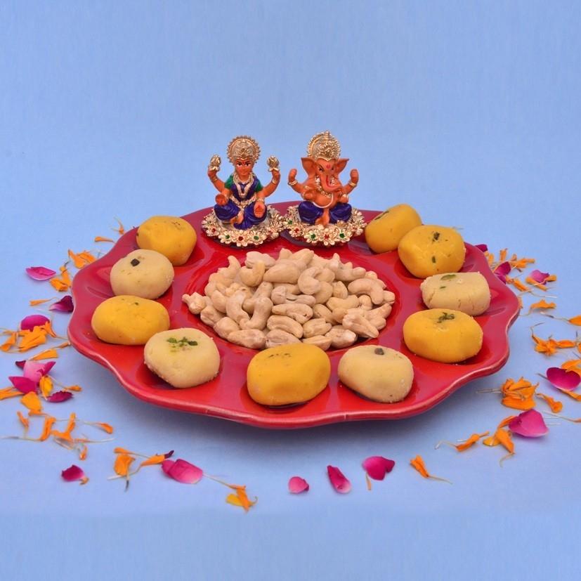 Golden Silver Plated Laxmi Ganesh Combo