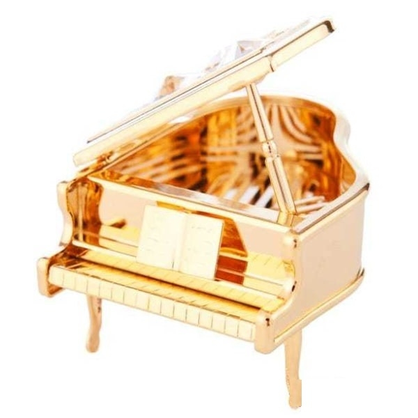Crystal Studded Grand Piano Ornament
