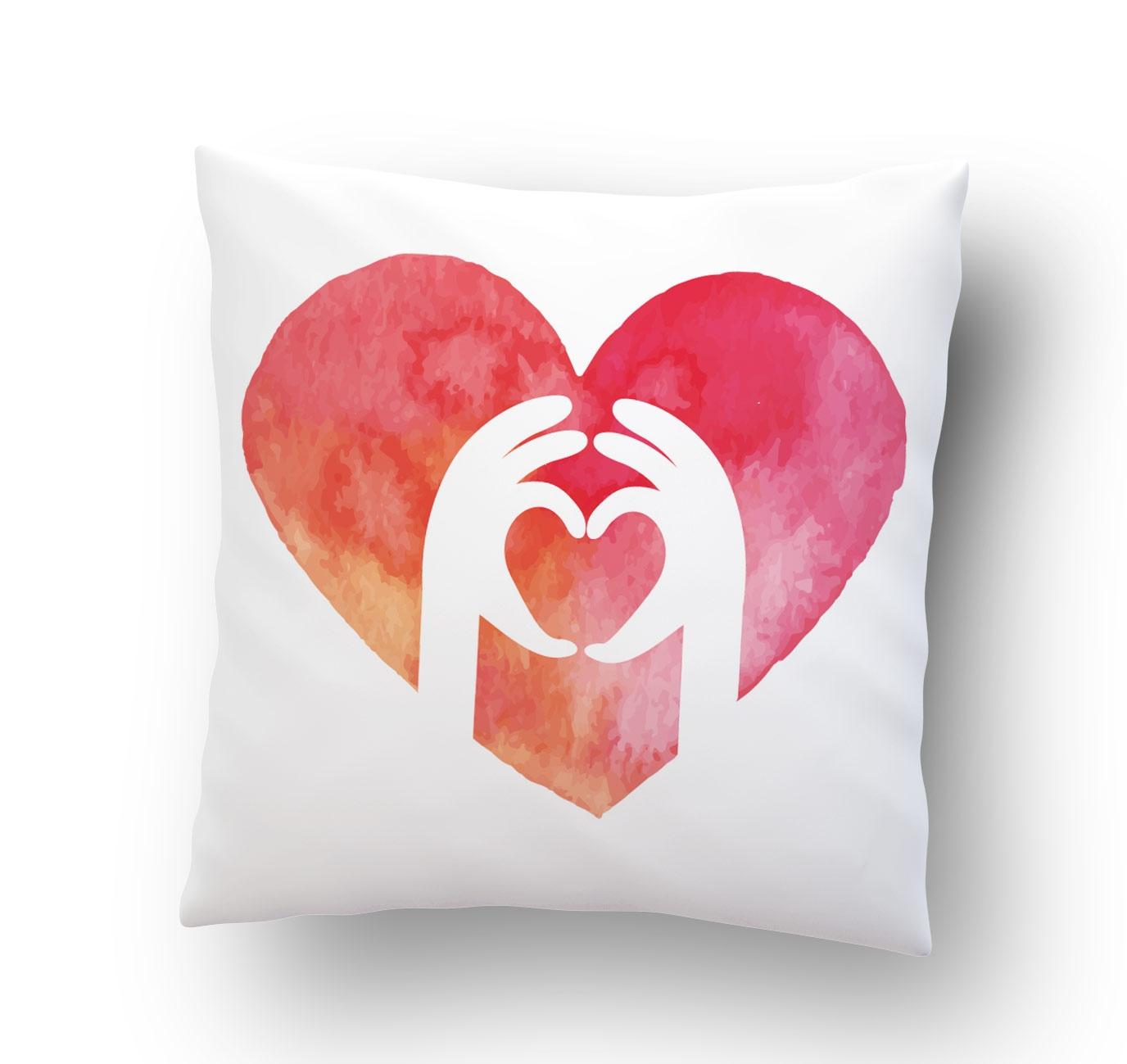 Hands Heart Cushion