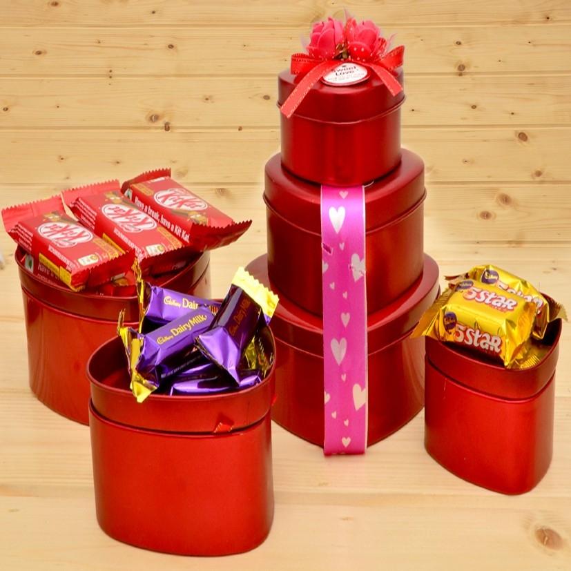 Heart Tin Gift Pack