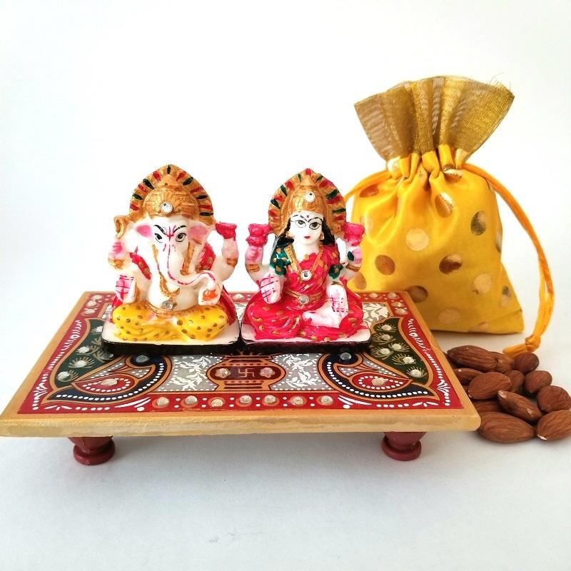 Laxmi Ganesha with Dry Fruits
