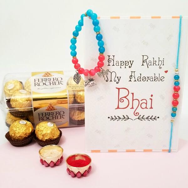 Charming Bhaiya Bhabhi Rakhi with FR