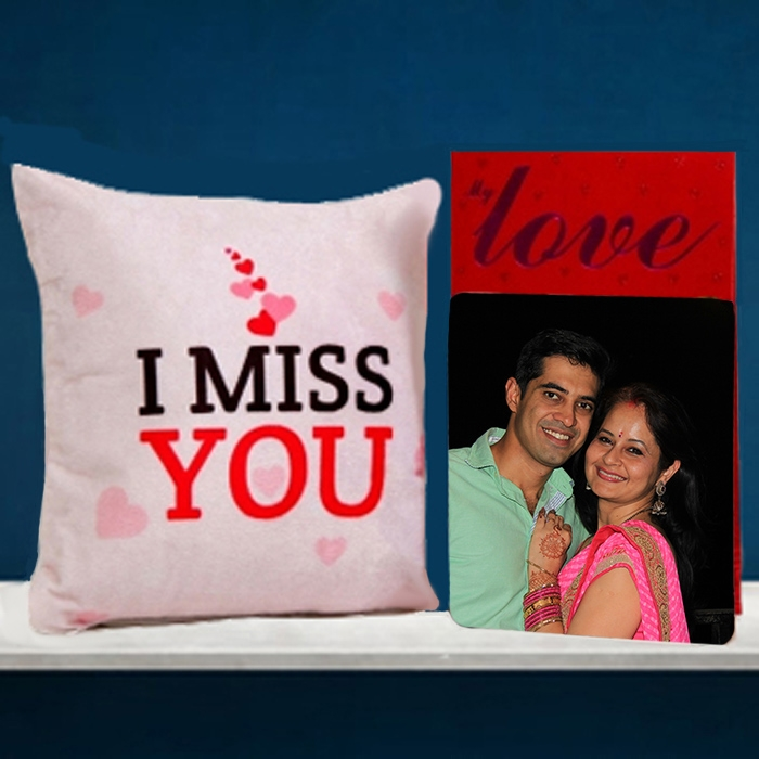 Personalized Greeting card and Cushion Combo