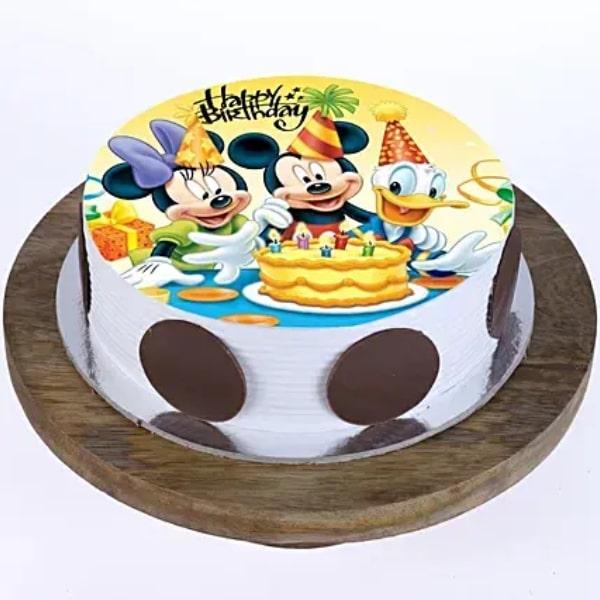 Mickey and Minnie Truffle Cake