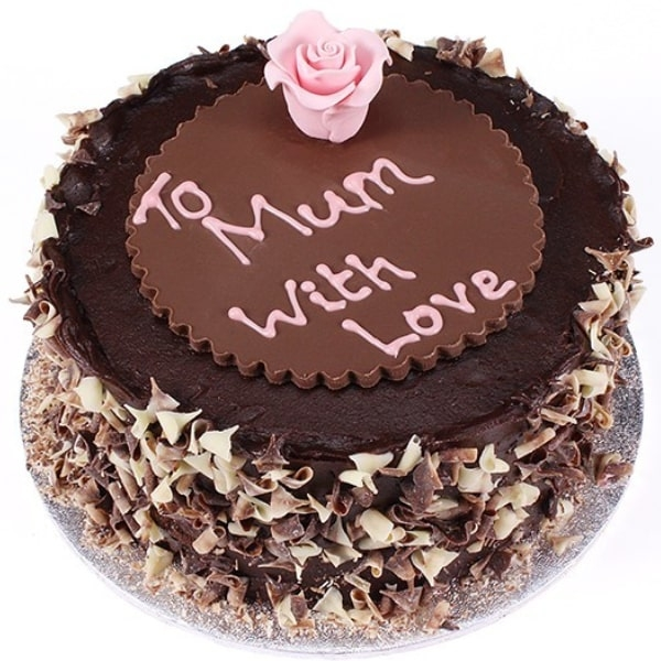 Mothers Day Chocolate Fudge Cake