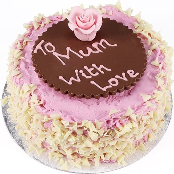 Mothers Day Strawberry Flake Cake