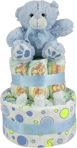 Nappy Cake With Accessories–2 Tier
