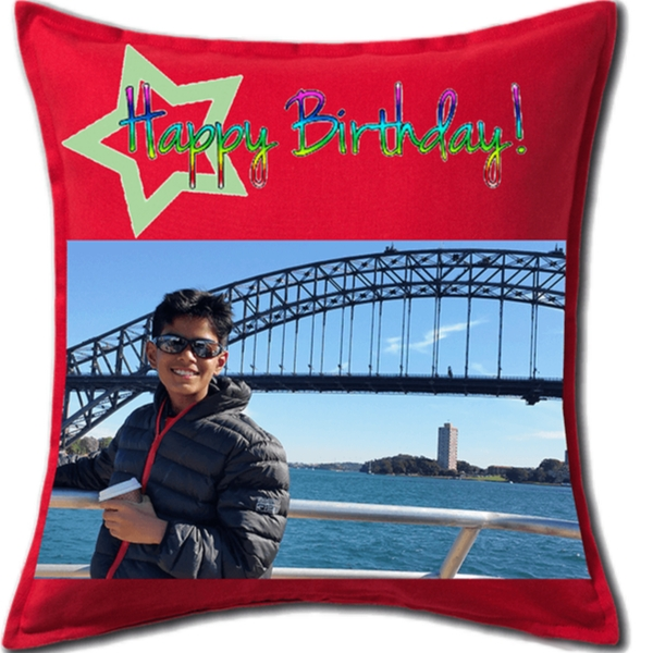 Personalized Birthday Square Cushion
