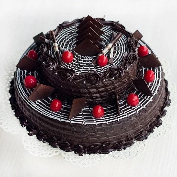 Two Tier Choco-Truffle Cake