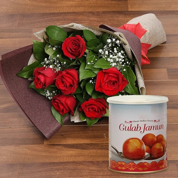 Red Roses and Gulab Jamun