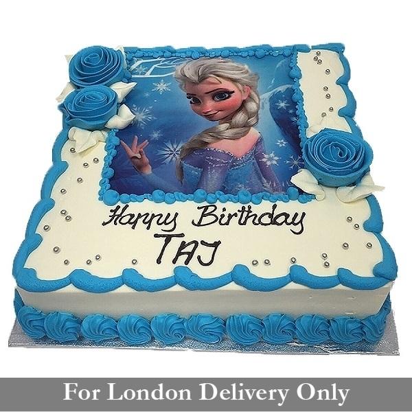 Elsa Frozen Photo Cake