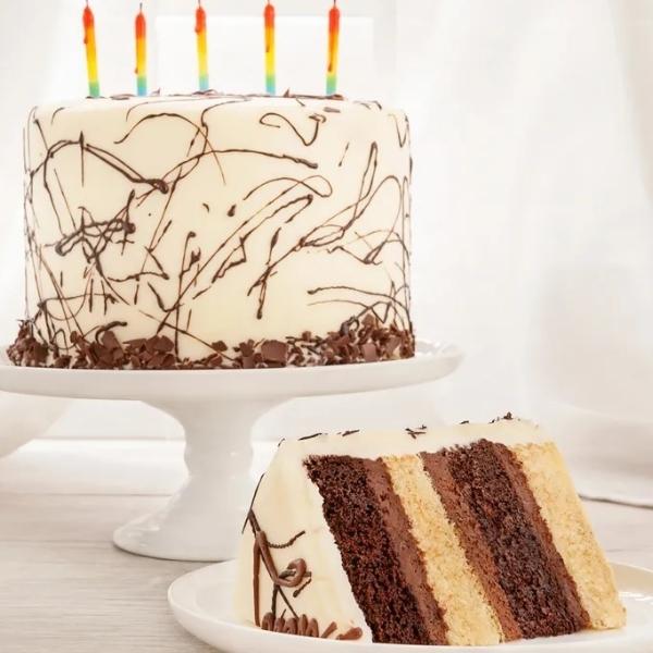 Happy Birthday 4 Layer Cake