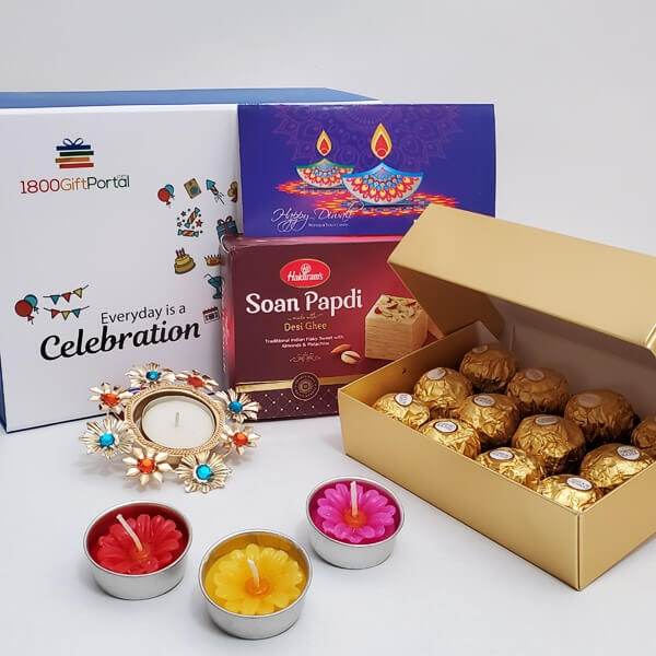 Diwali Sweets & Candles with Card