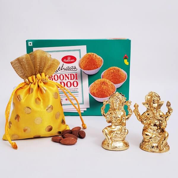 Boondi Laddoo, Lakshmi Ganesha & Nuts
