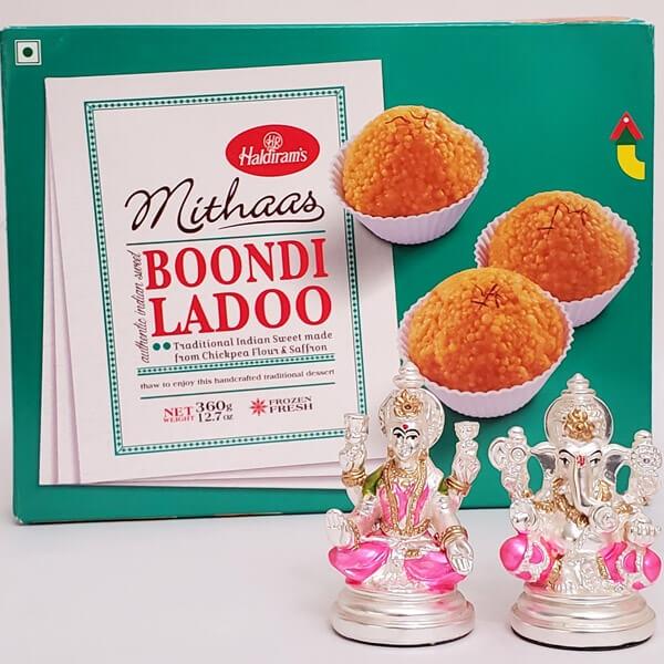 Lakshmi Ganesha & Boondi Laddoo