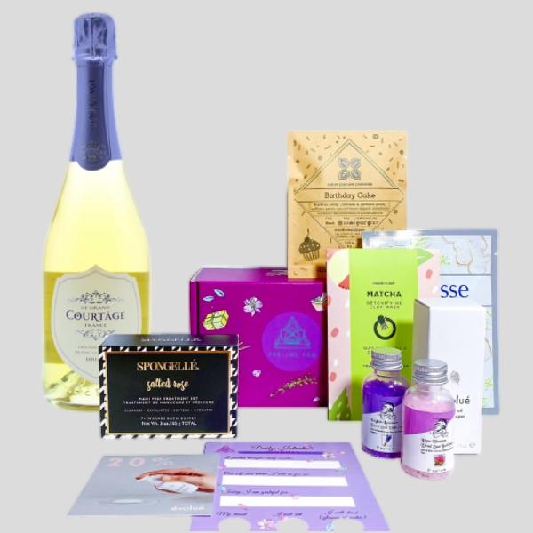 90 Point Sparkling Wine & Spa Gift Set