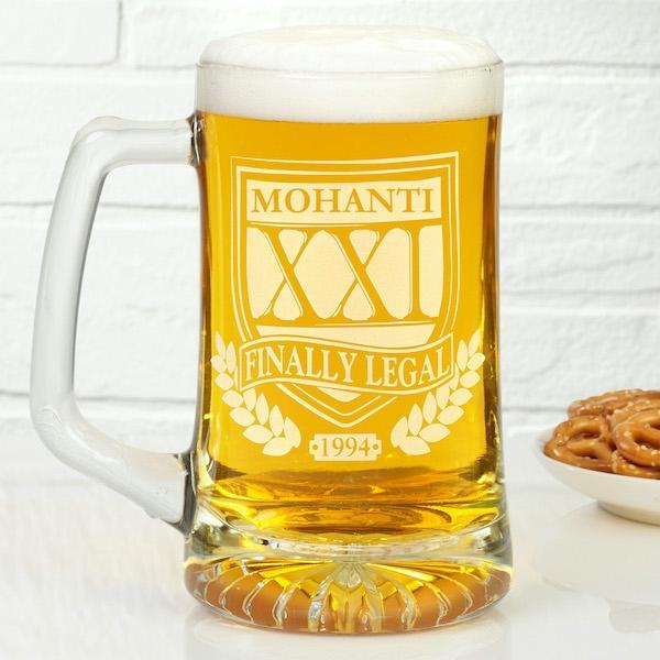 Brewmasters Birthday Personalized Beer Mug