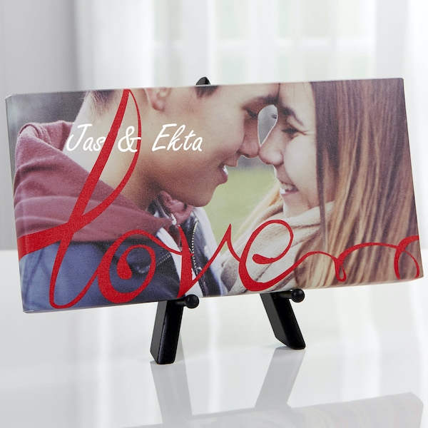 Love Always Personalized Photo Canvas Print