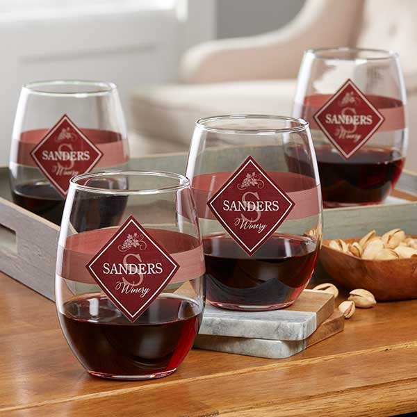 Family Winery Personalized Wine Glass Collection