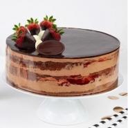Double Chocolate Strawberry Cake