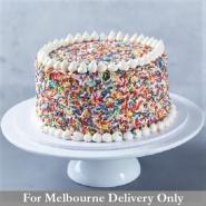 Eggless Rainbow Cake