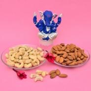 Blue Ganesha & Dry Fruits Combo