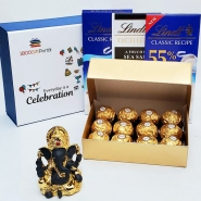 Diwali with Ganesha and Lindt