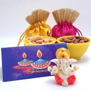 Cute Ganesha and Nuts