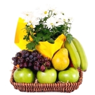 Fruits & Flowers Gift Basket