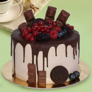 Candy Topped Choco Cake