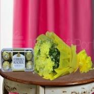 Chocolaty Yellow Carnation