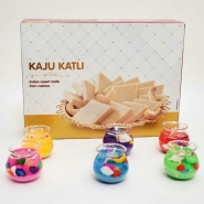 Dozen lights with Kaju Katli