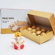 Ganesha with Kaju Katlia and Ferrero
