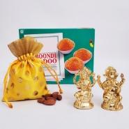 Lakshmi-Ganesha with Boondi and Nuts