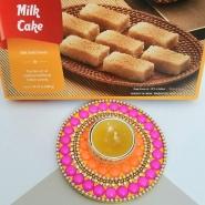 Diwali Diya & Milk Cake
