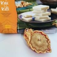 Diwali Diya with Kaju Katli