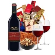 Elegant Wine Basket