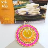 Fancy Diwali Candle & Burfi