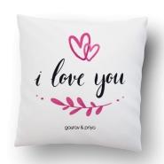 I Love You printed Cushion