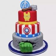 Three Tier Avengers Chocolate Cake