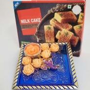 Ganesha Candle and Milk Cake