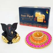 Beautiful light with Ganesha and Soan